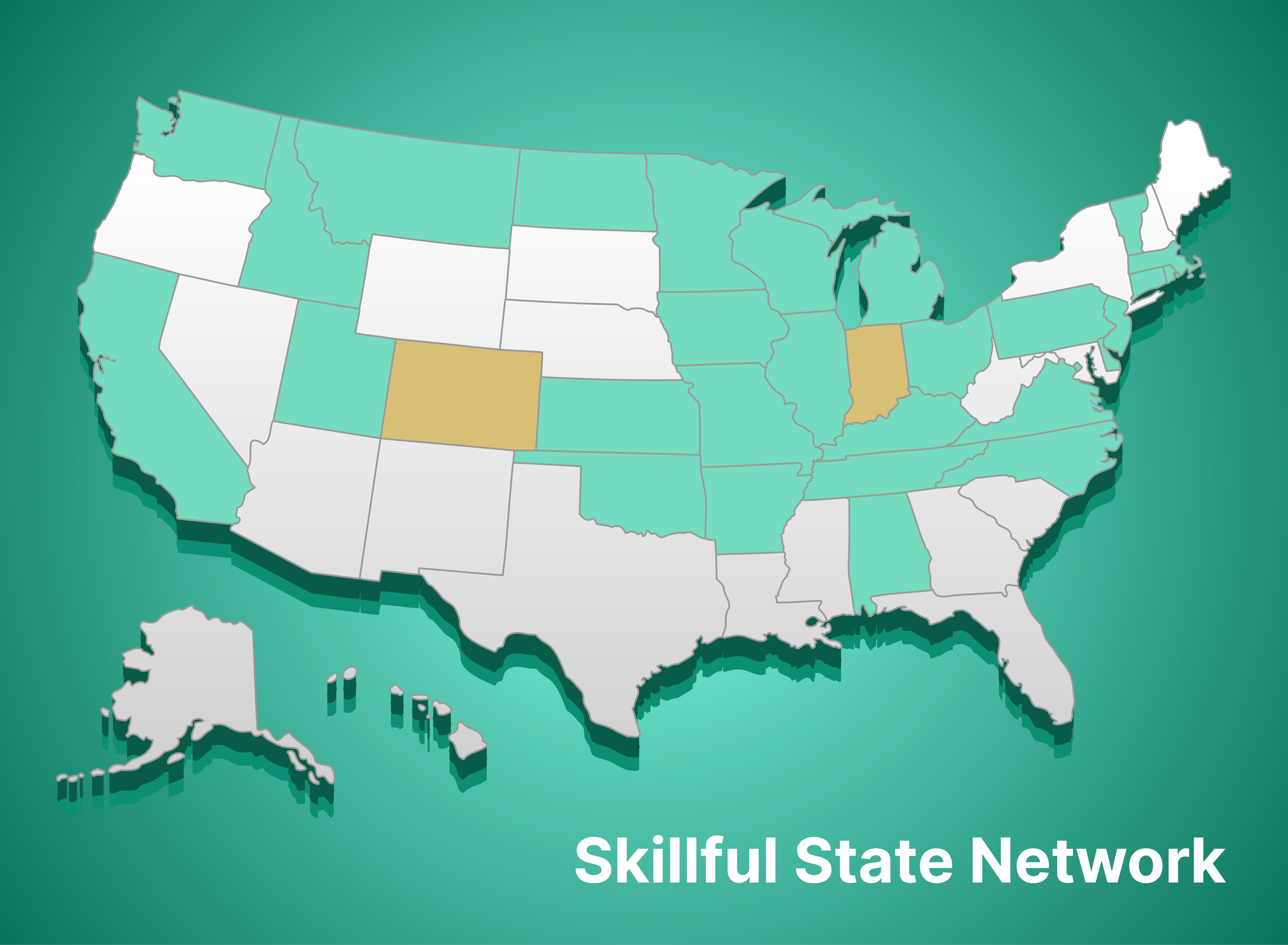 US Map of Skillful State Networks